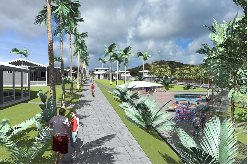 Village de la Pointe Martinique, équipements par Daniel Dabilly, architecte