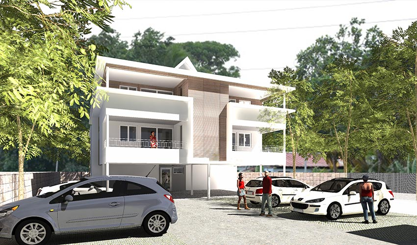 Cayenne, construction de logements par Daniel Dabilly, architecte