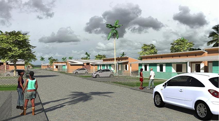 Sao Tome, construction de logements par Daniel Dabilly, architecte
